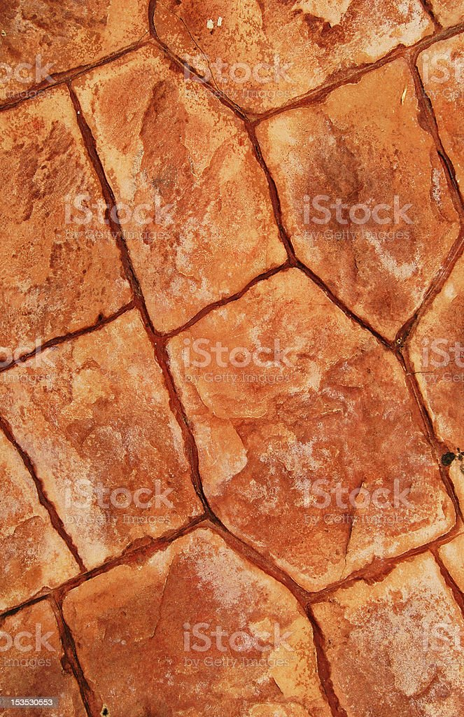 Pavement Made From Red Stone Plates royalty-free stock photo