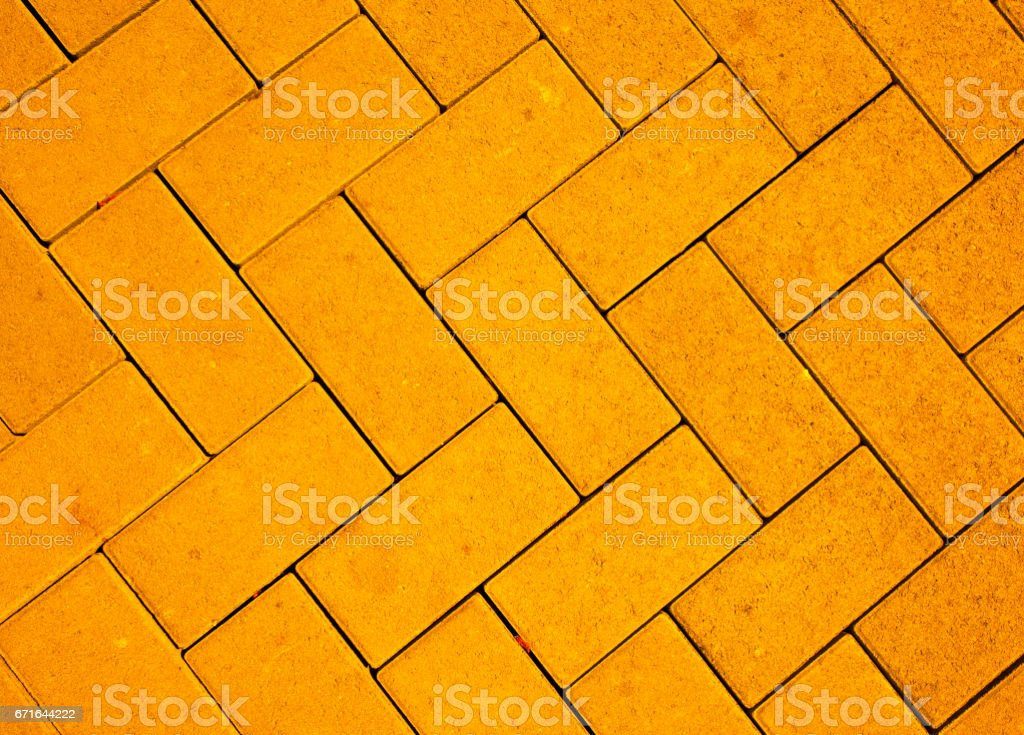 pavement pattern made with cast concrete blocks stock photo