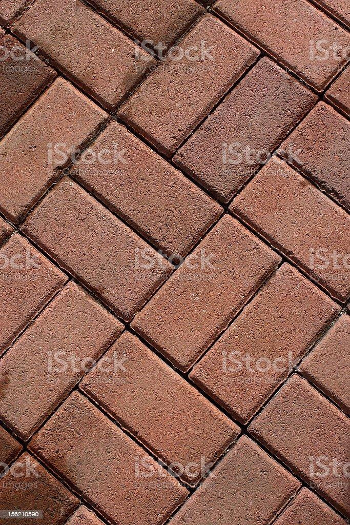 Paver Red Bricks royalty-free stock photo
