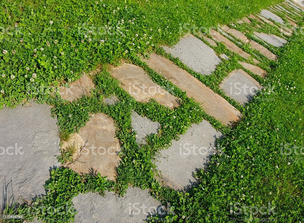 Pavestone Walkway stock photo