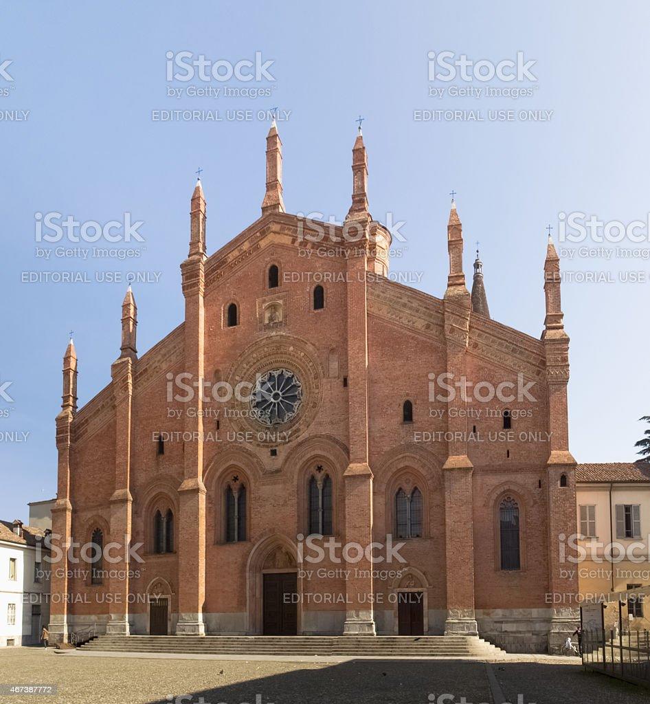Pavia, church of Santa Maria del Carmine stock photo
