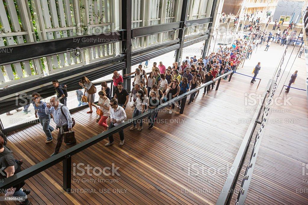 USA pavilion at Expo 2015 in Milan, Italy stock photo