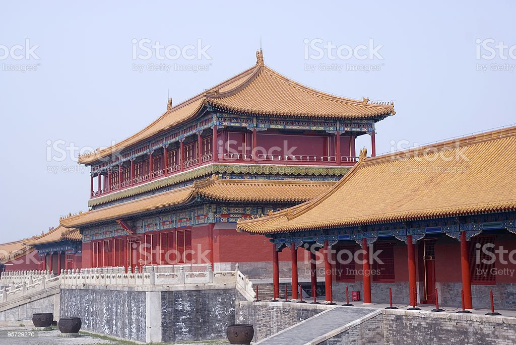 Pavilion at Forbidden City royalty-free stock photo