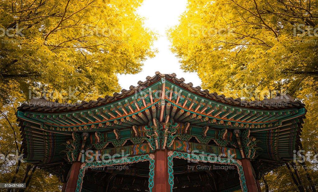 Pavilion Autumn stock photo
