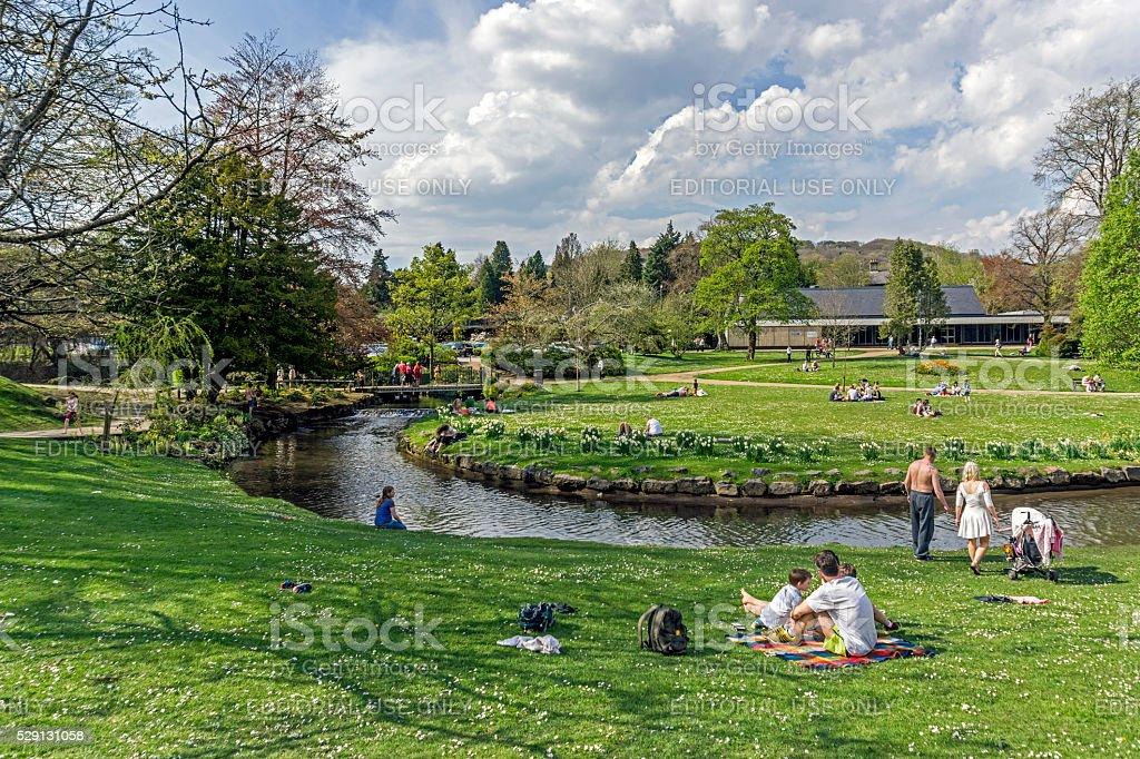 Pavilion Gardens, Buxton stock photo