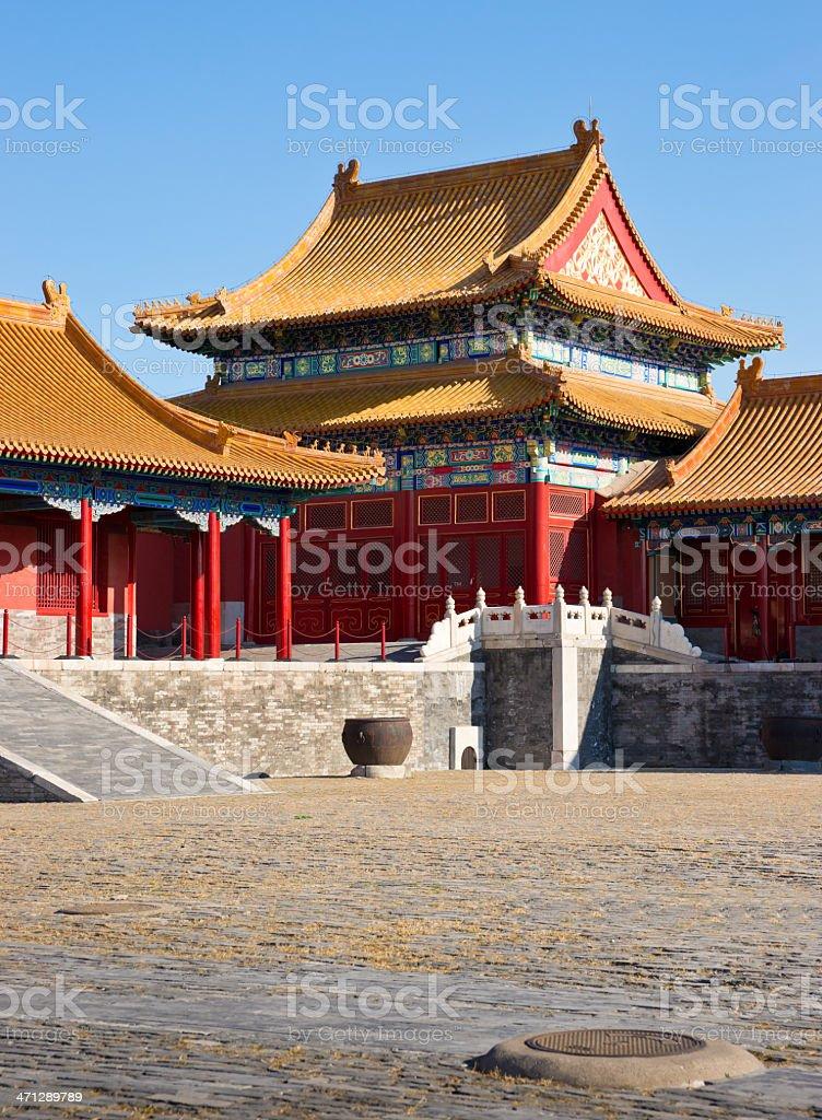 Pavilion in Forbidden City, Beijing stock photo