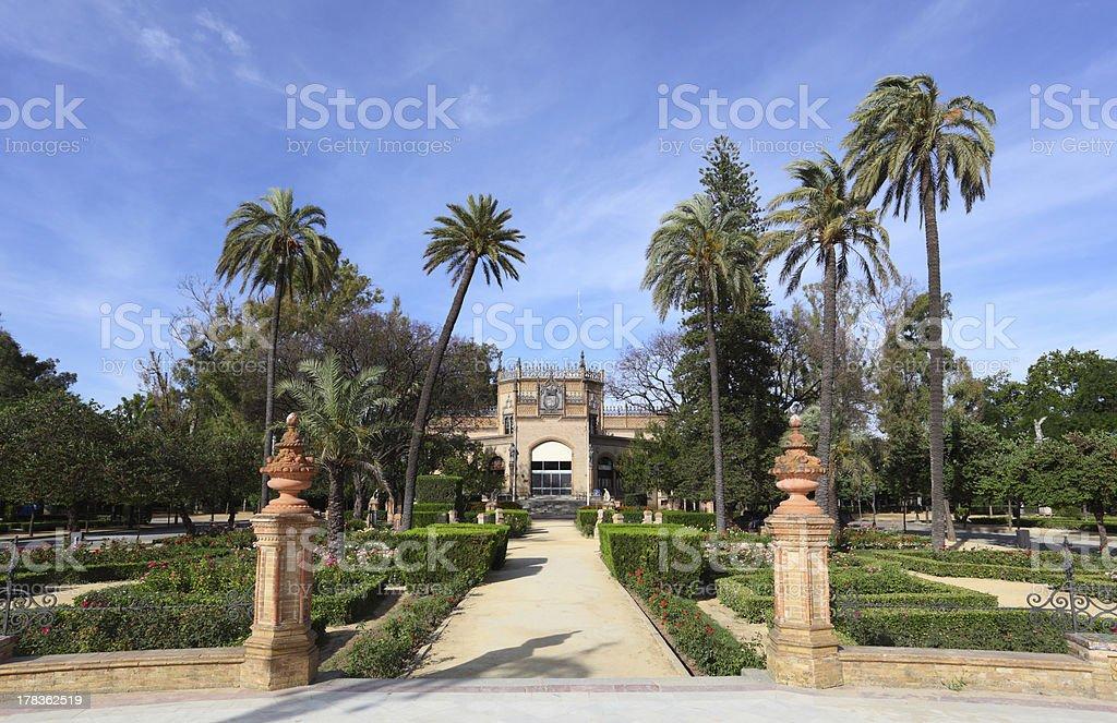 Pavilion in Sevilla, Spain royalty-free stock photo