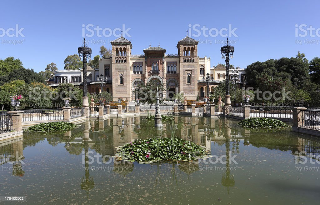 Pavilion in Seville, Spain royalty-free stock photo