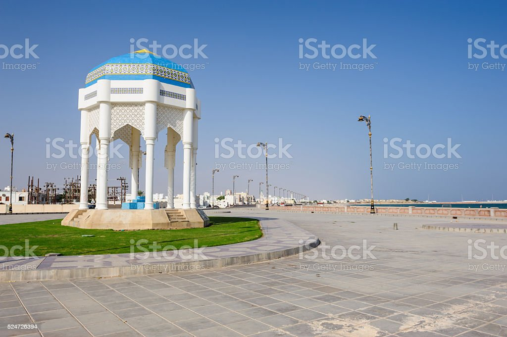 Pavillion in Sur, Oman stock photo