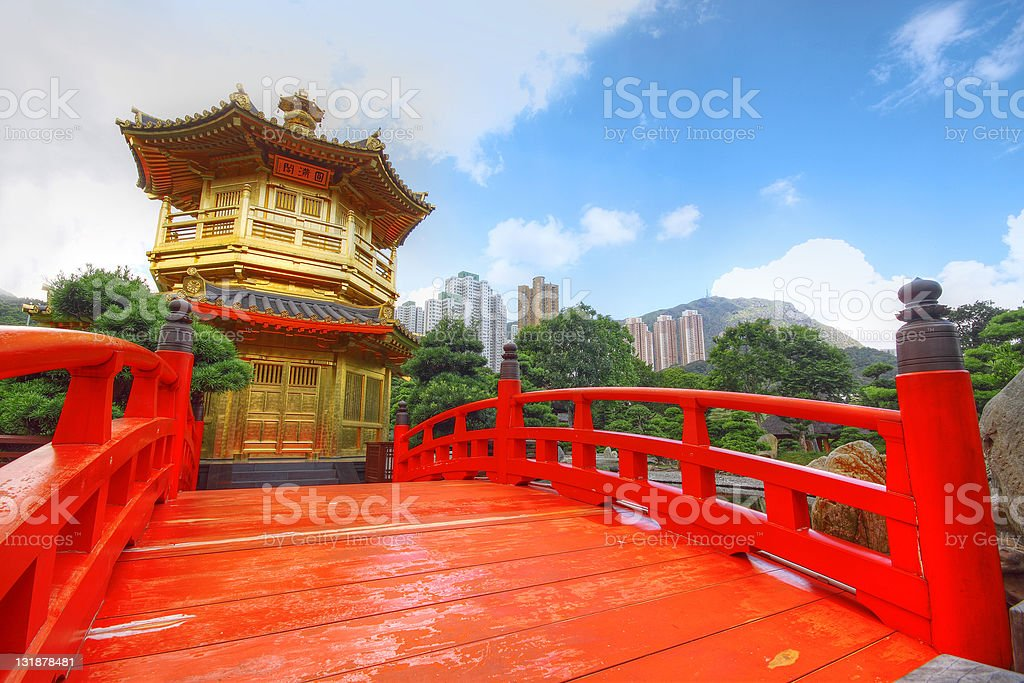 Pavilion of Absolute Perfection in the Nan Lian Garden, Hong stock photo