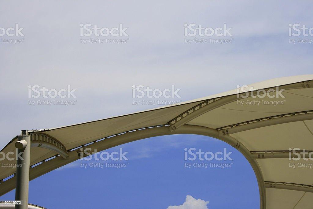 Pavilion roof stock photo