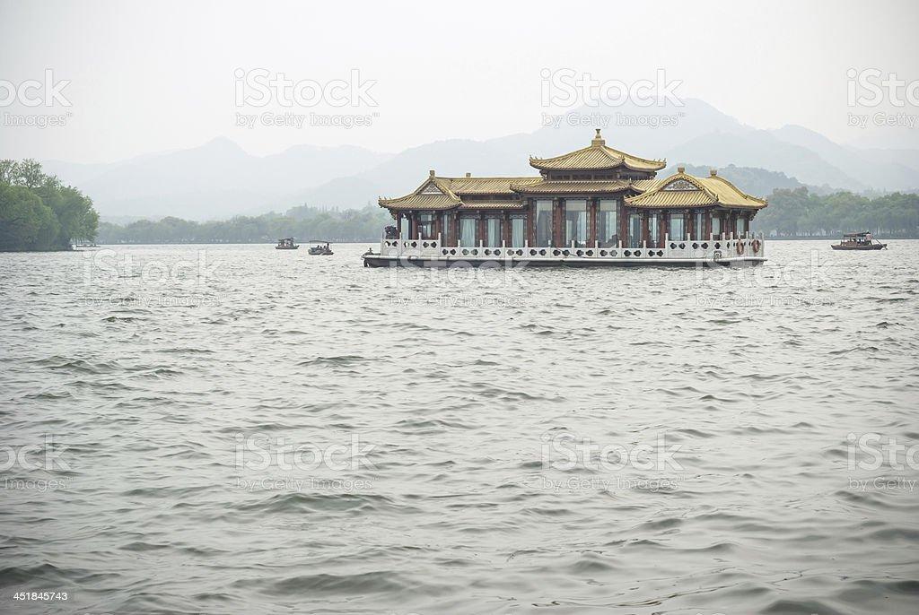 Pavilion styles cruise ship royalty-free stock photo