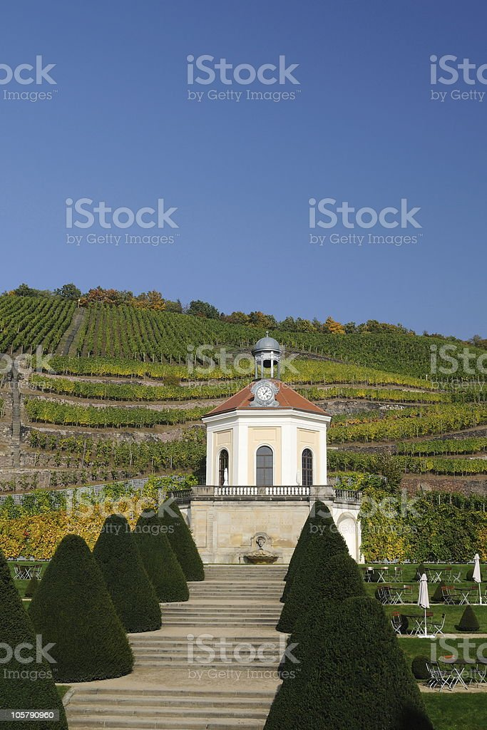 Pavillion Wackerbarth  Belvedere Fall stock photo