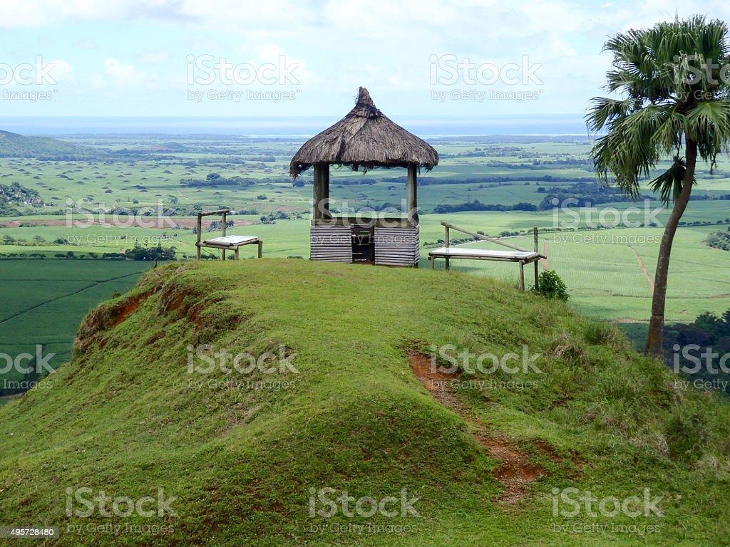 Pavillion in Mauritius royalty-free stock photo