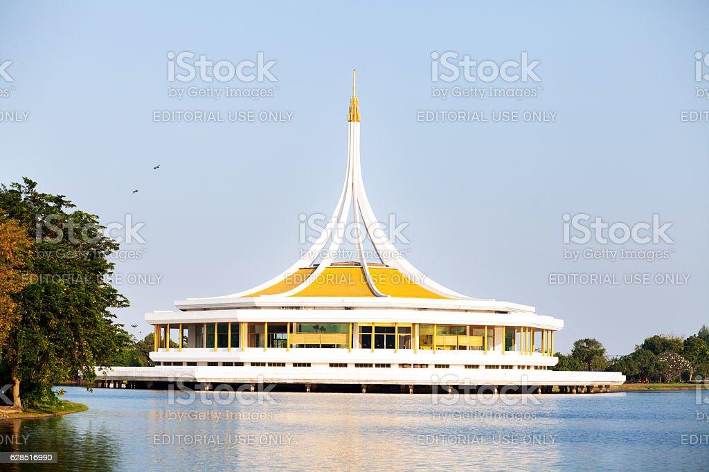 Pavillion in Rama 9 Park stock photo