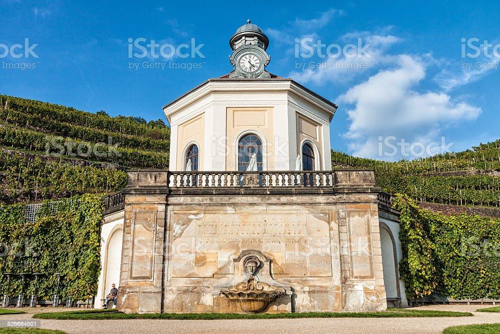 Pavilon in Radebeul stock photo