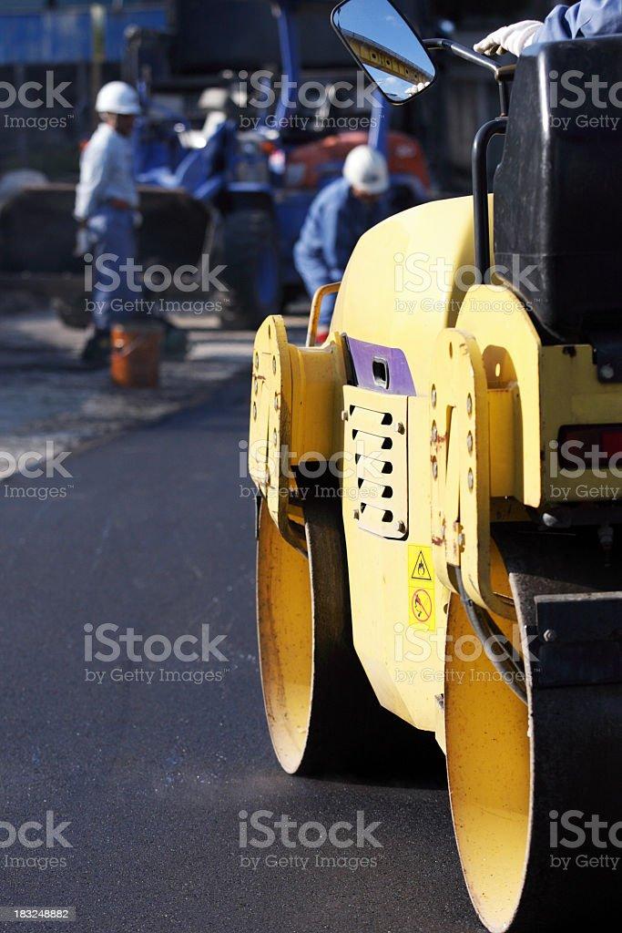 Pflasterarbeiten eine road Lizenzfreies stock-foto