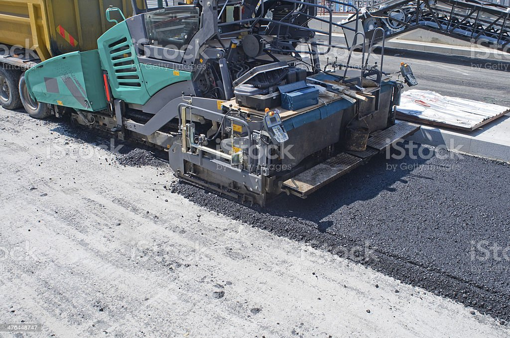 Paving A Road stock photo