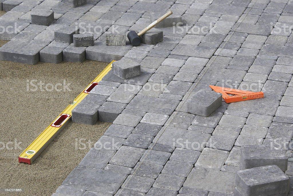 Paving Backyard Patio stock photo