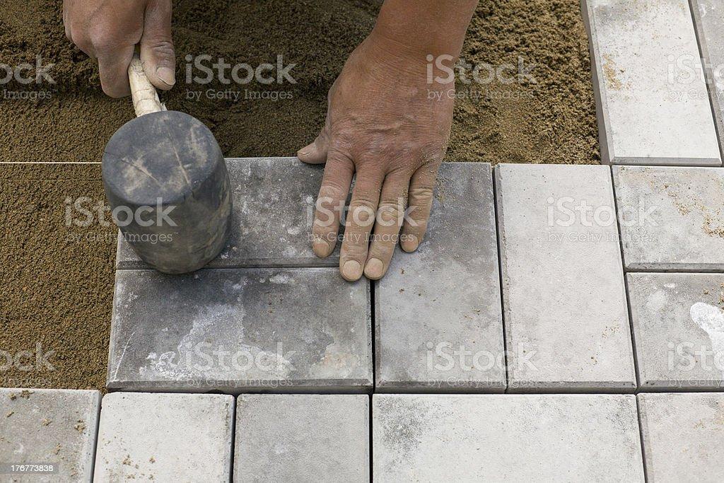 paving blocks stock photo