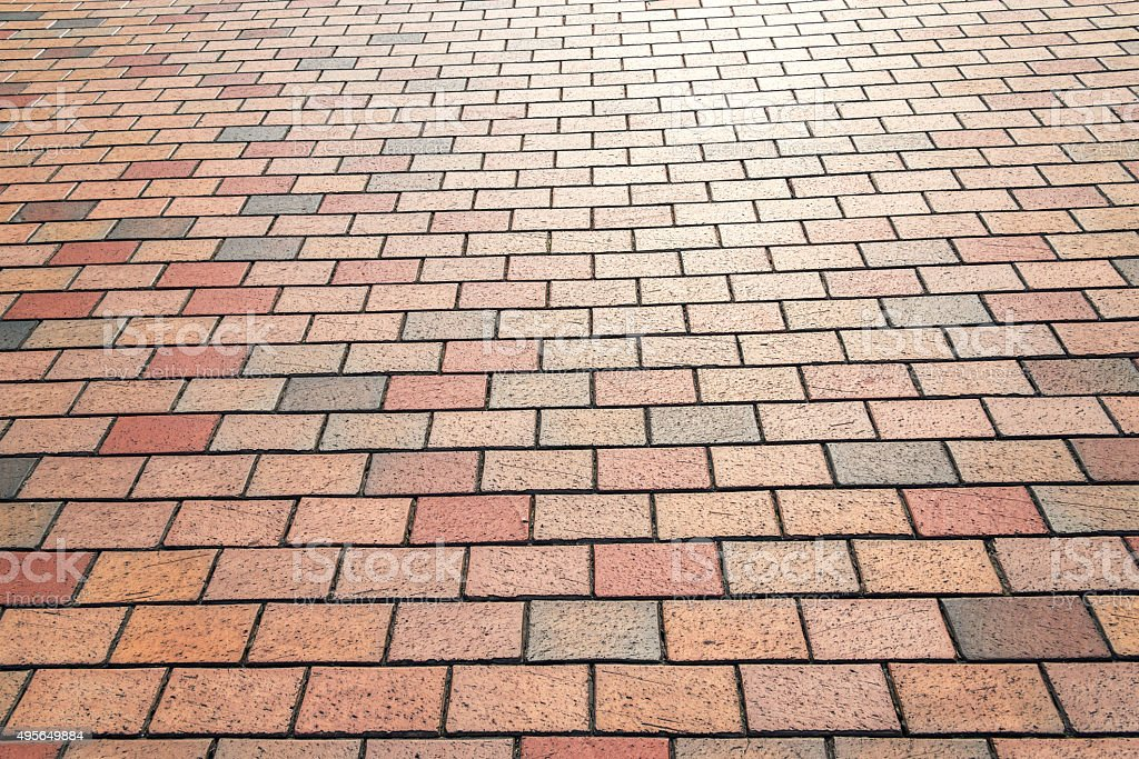 Paving brick texture background stock photo