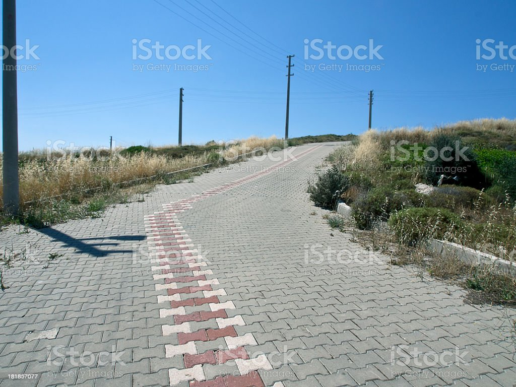 Paving Road royalty-free stock photo