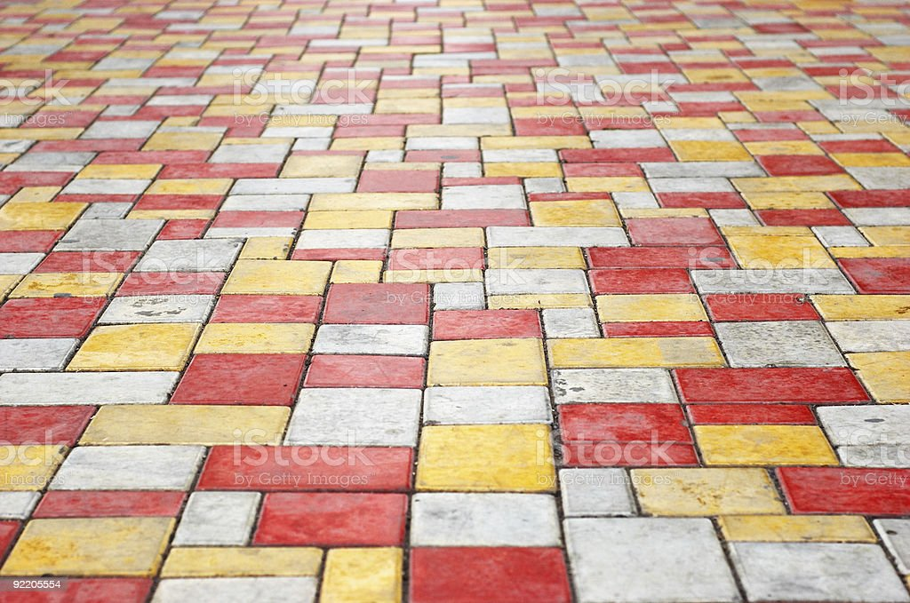 paving slab perspective background royalty-free stock photo