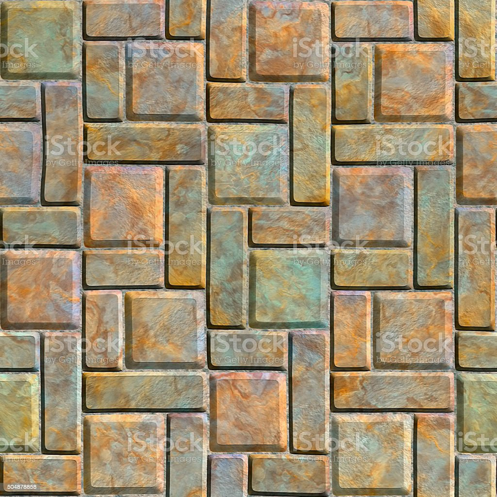 Paving slabs stock photo