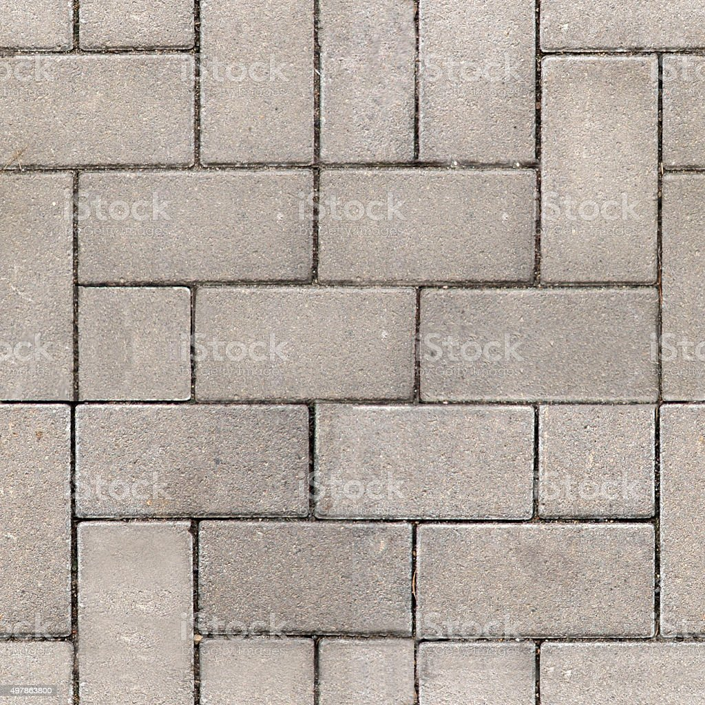 Paving Slabs. Seamless Tileable Texture. stock photo