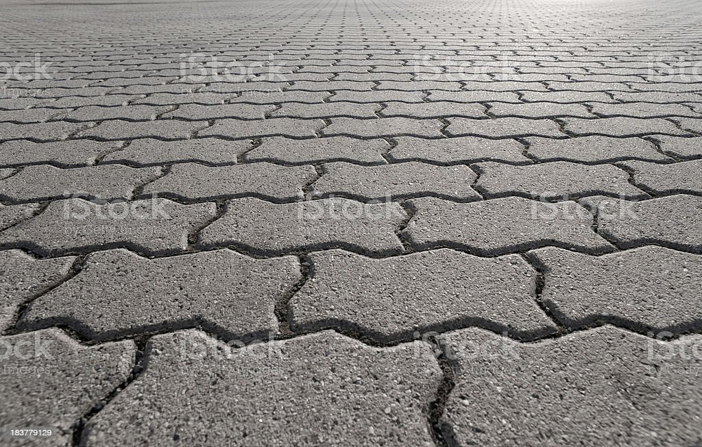 Paving stone concrete stock photo