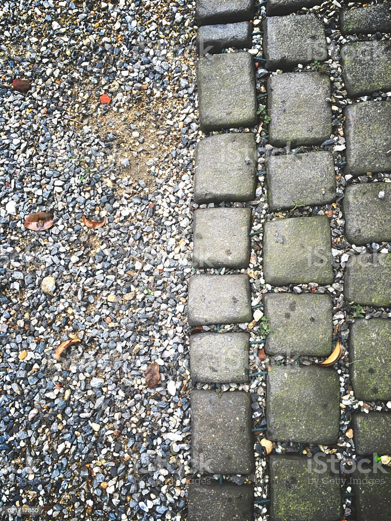 paving stone cube lay on the ground royalty-free stock photo