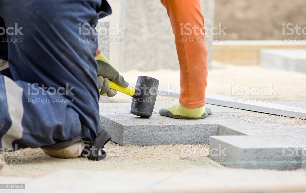 Paving stone stock photo