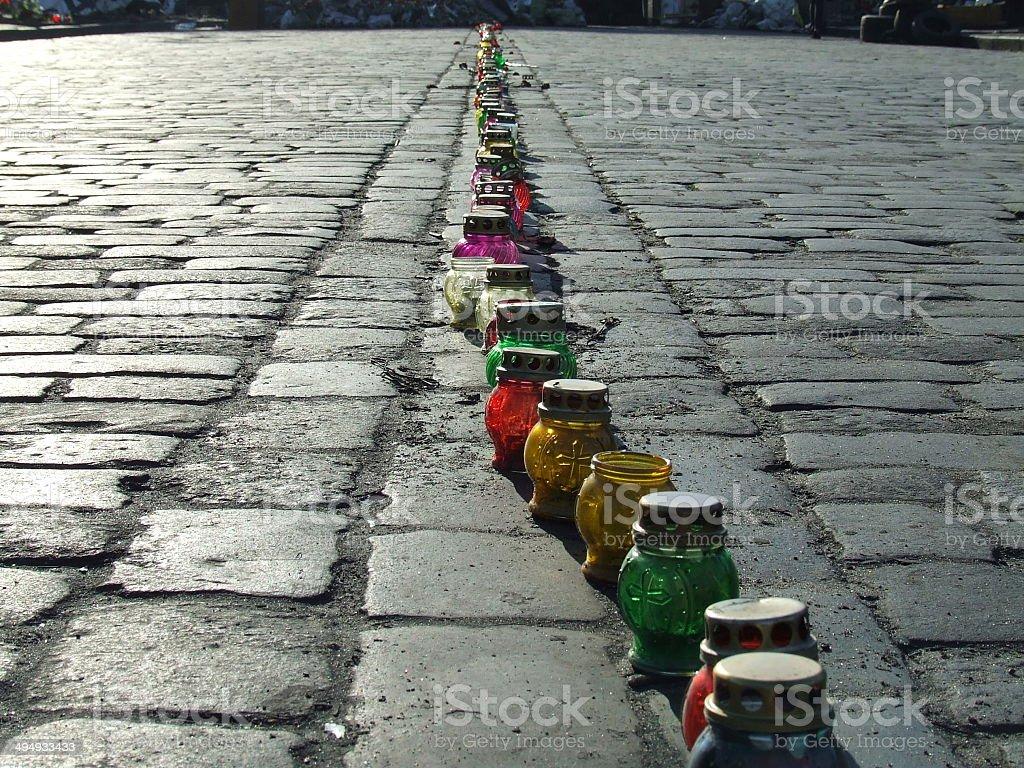 Paving stone stock photo