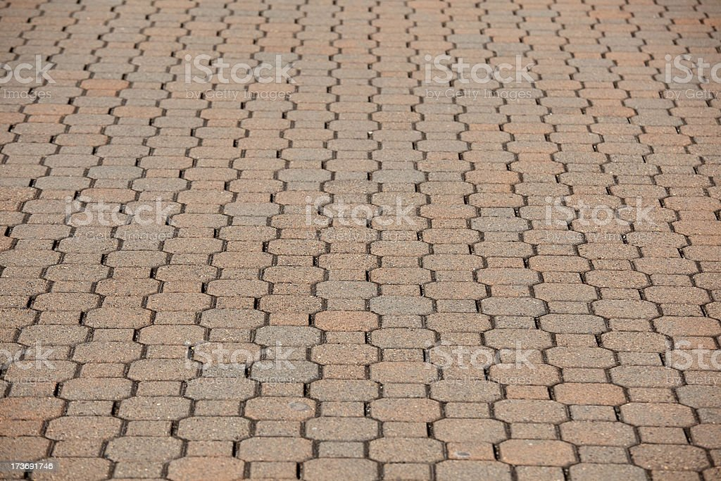Paving Stone Walkway Sidewalk as background royalty-free stock photo