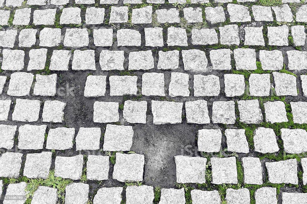 paving stones broken stock photo