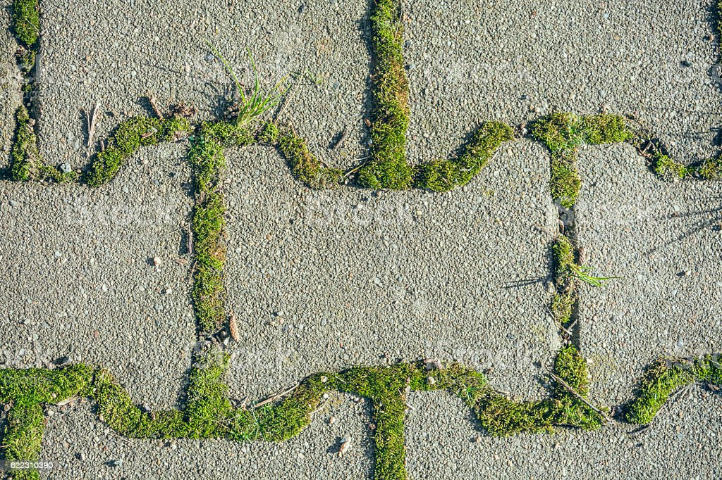 Paving stones from above stock photo