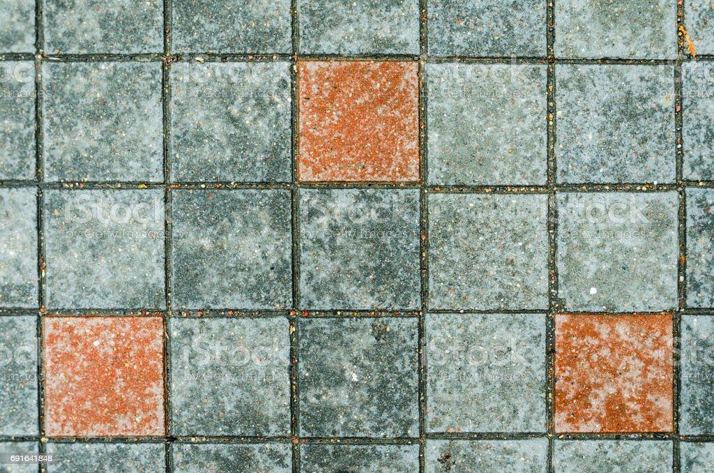 Paving stones on a sidewalk stock photo