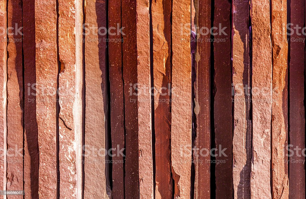 paving stones, rectangular stones in red shades of color stock photo