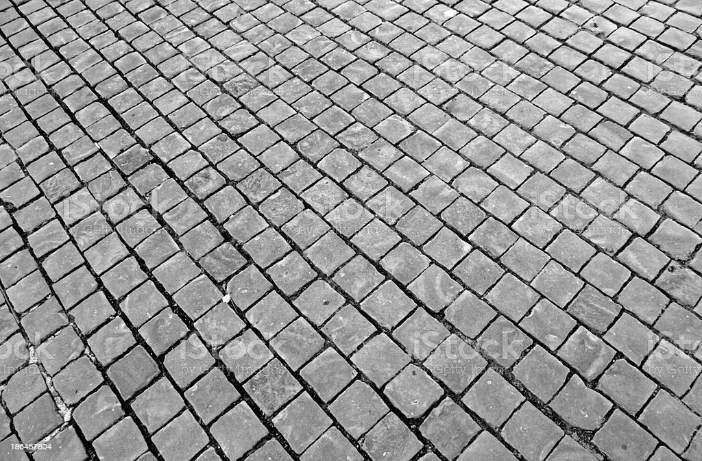paving with cobblestones in St. Peter's square royalty-free stock photo