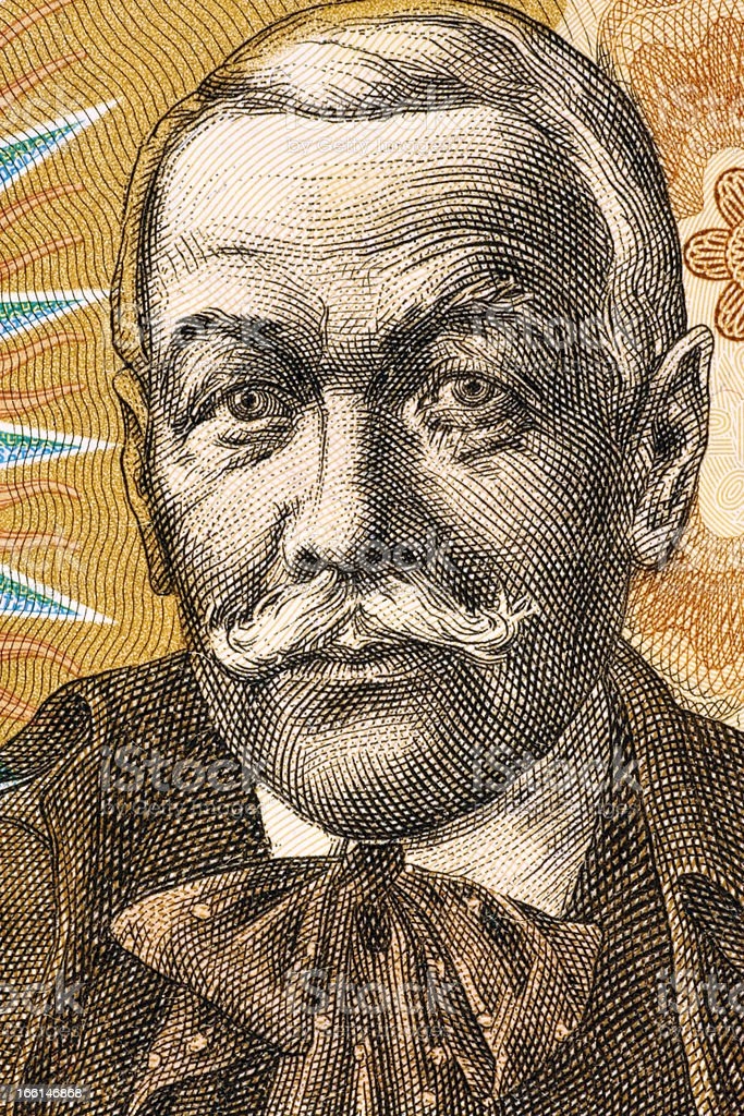 Pavol Orszagh Hviezdoslav royalty-free stock photo