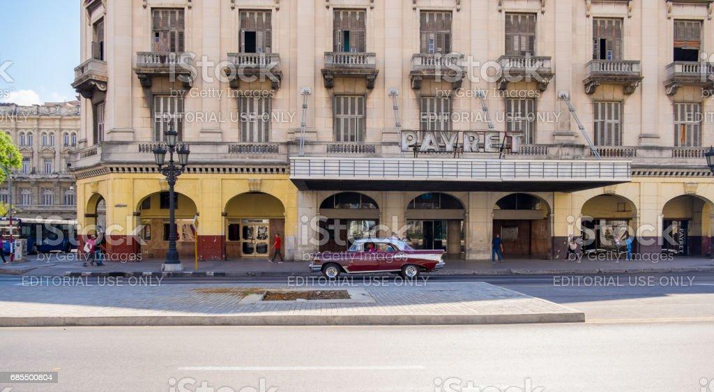 Pavret Theatre in Havana, Cuba stock photo