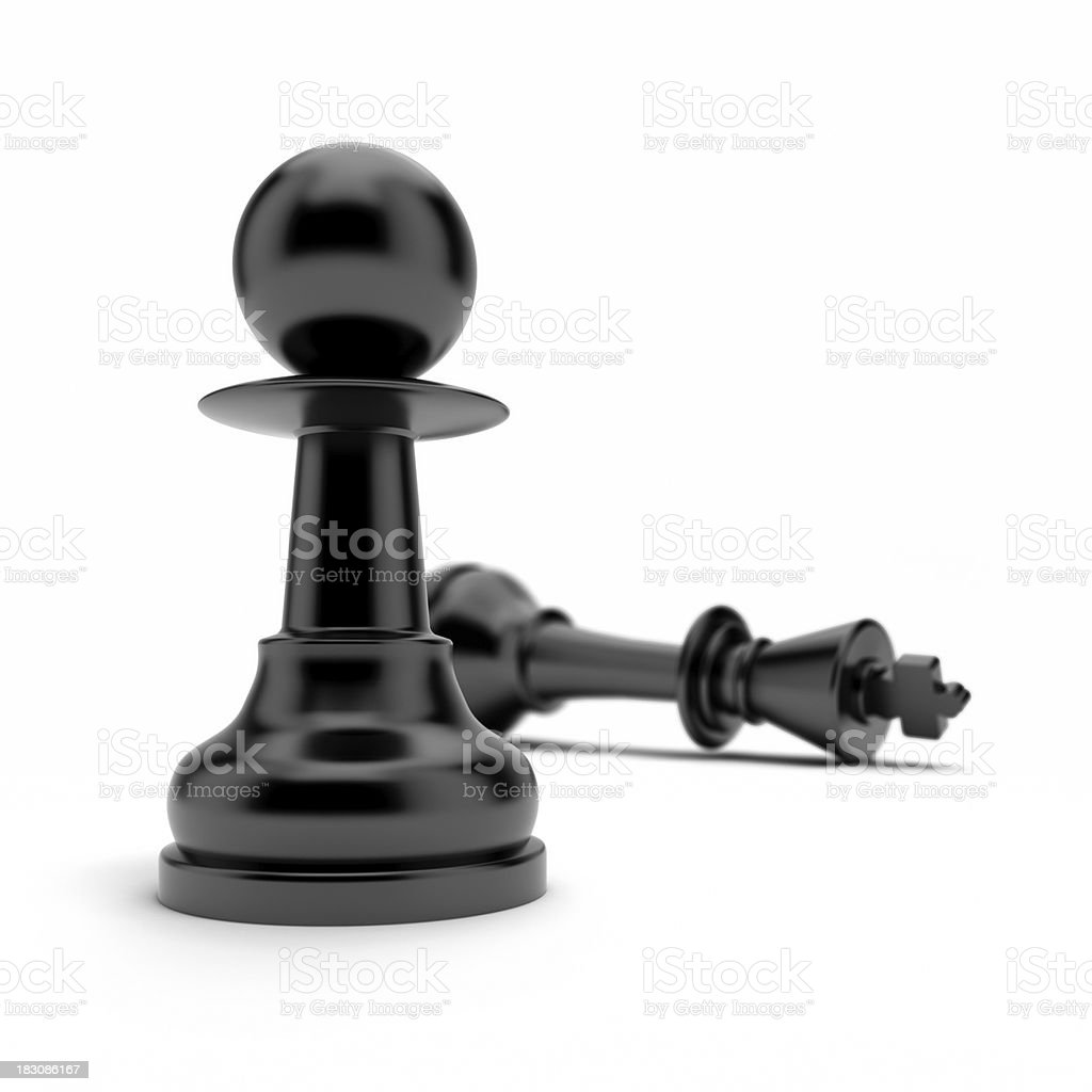 Pawn and king stock photo