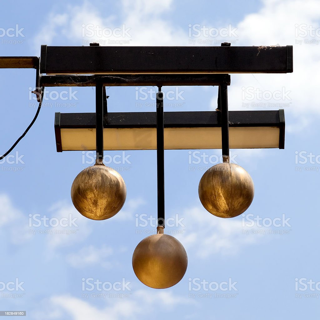 Pawn Broker's sign royalty-free stock photo