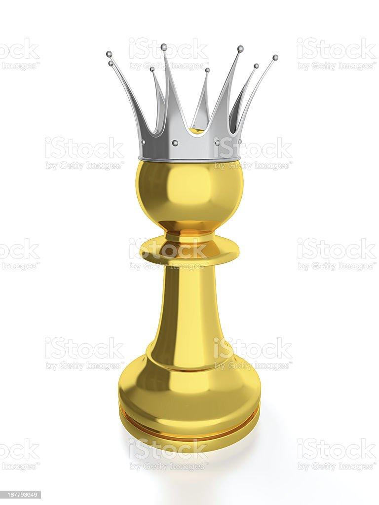 Pawn king stock photo