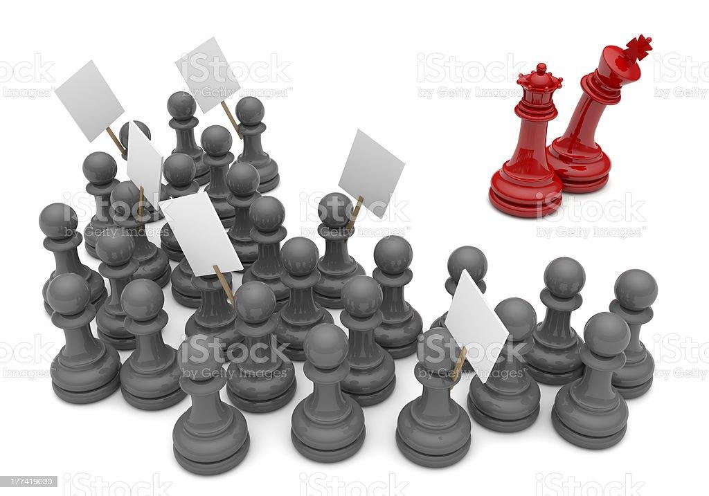 Pawn Revolt royalty-free stock photo