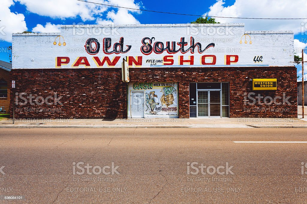 Pawn Shop in Mississippi, United States stock photo