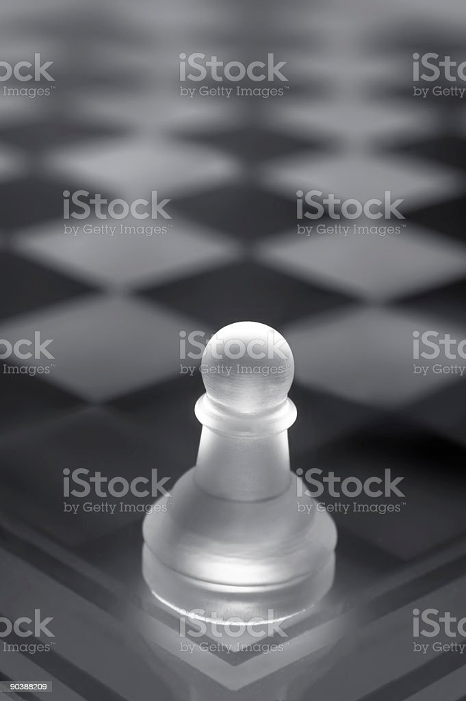 Pawn w Clipping Paths stock photo