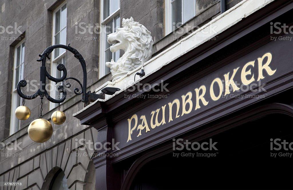 Pawnbroker Shop stock photo