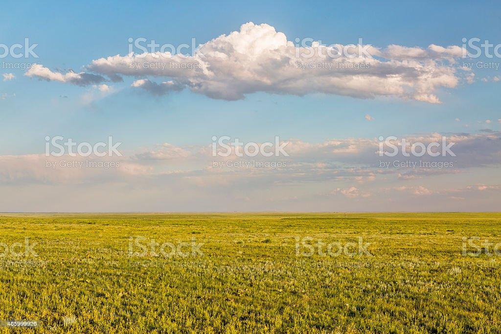 Pawnee National Grassland in springtime stock photo