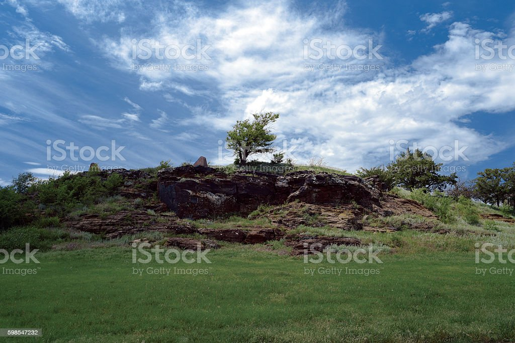 Pawnee Rock stock photo